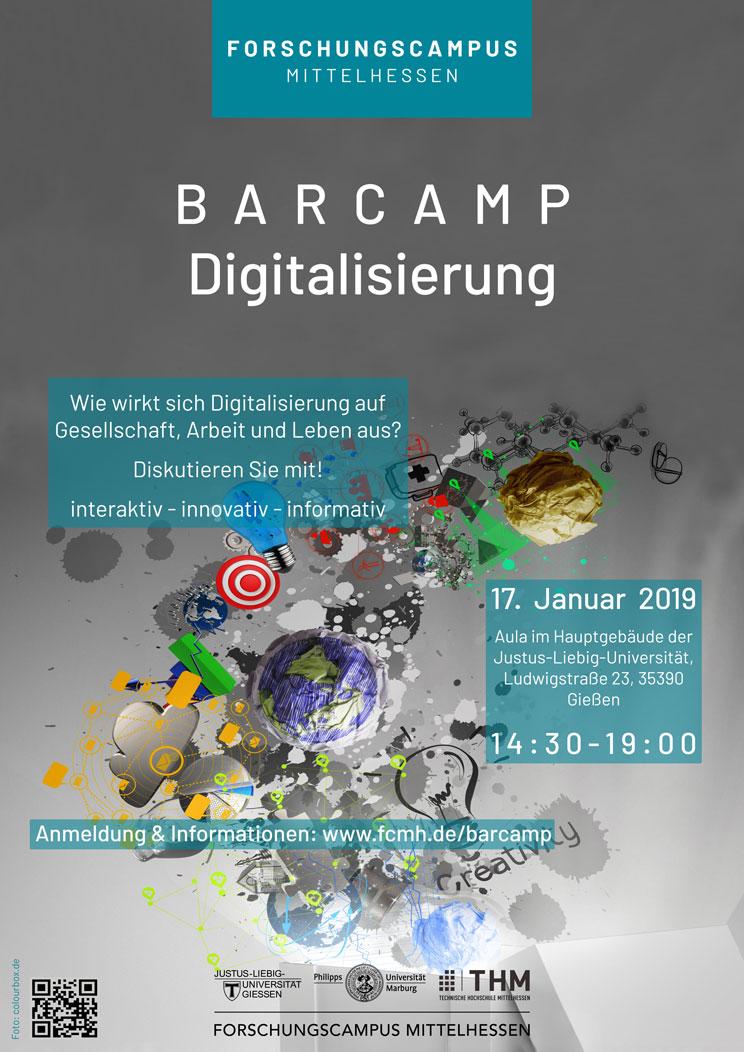 Einladungsflyer Barcamp Digitalisierung